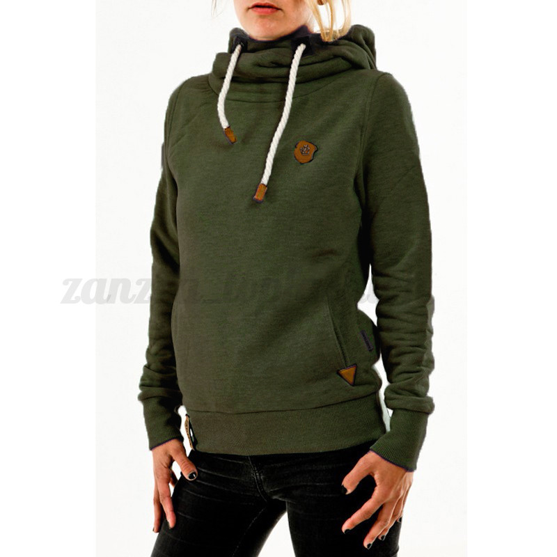 Winter Warm Women's Long Sleeve Turtleneck Sweater Hoodies ...
