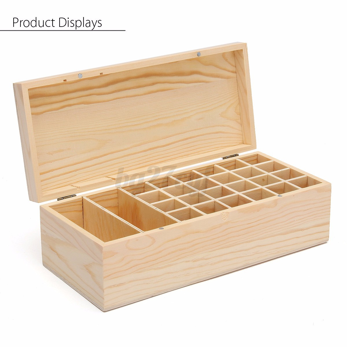 26 48 slot bo te rangement stockage bouteille huile essentielle box case coque ebay. Black Bedroom Furniture Sets. Home Design Ideas