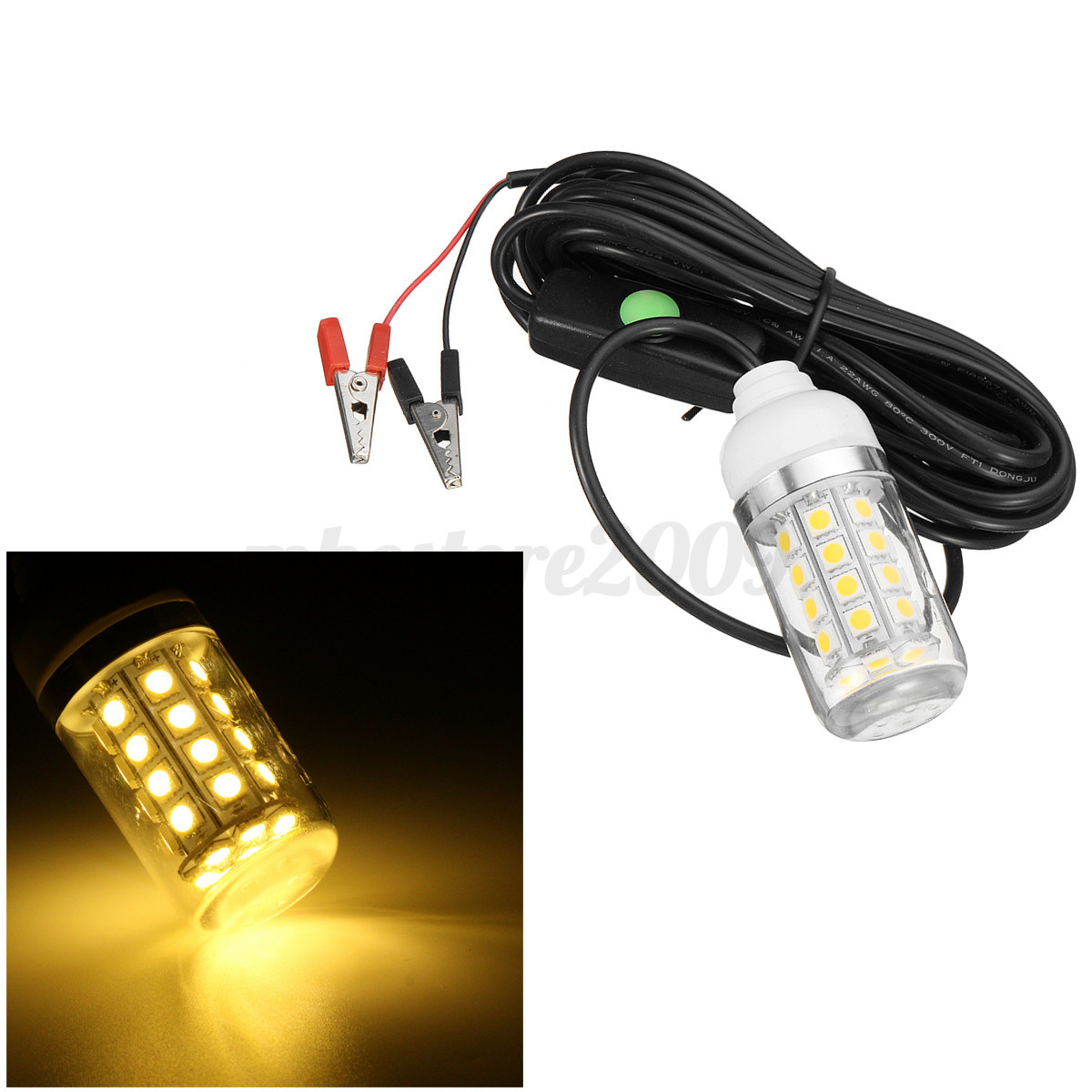 12v 36 led underwater submersible night fishing light shad for Submersible fishing light