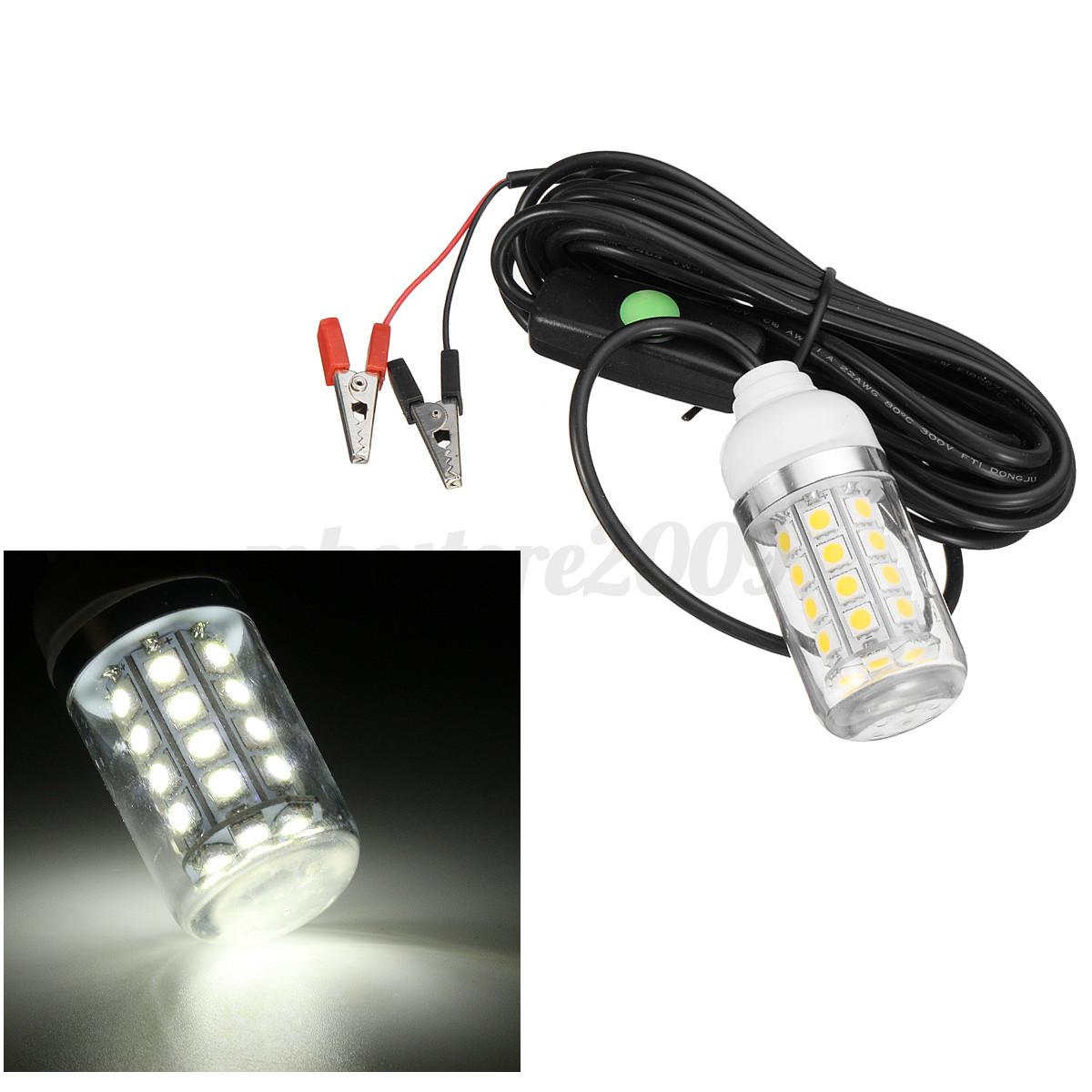 12v 36 led underwater submersible night fishing light shad for Underwater led fishing lights