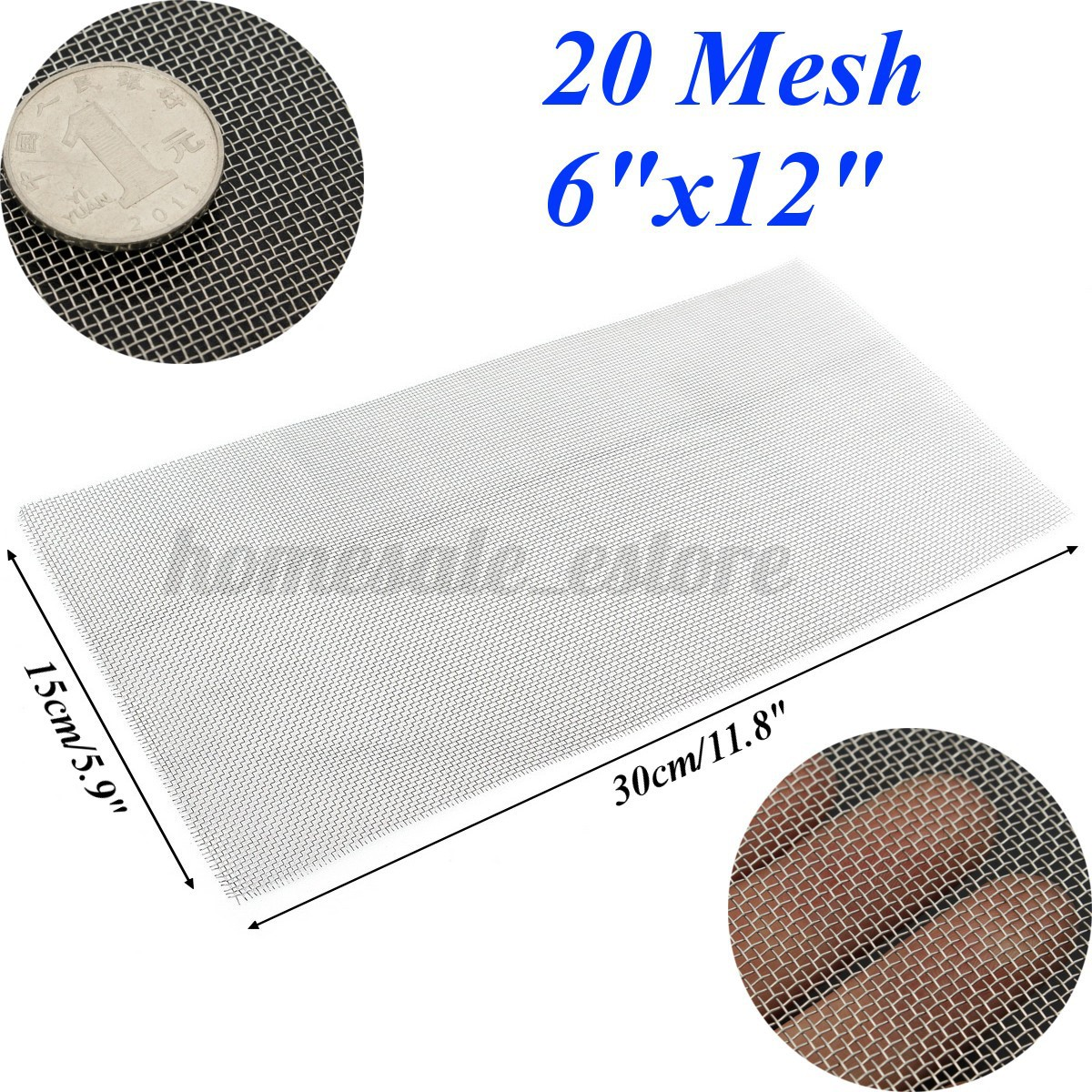 Stainless Steel 5/8/20/30/40 Mesh Woven Cloth Screen Wire Filter ...