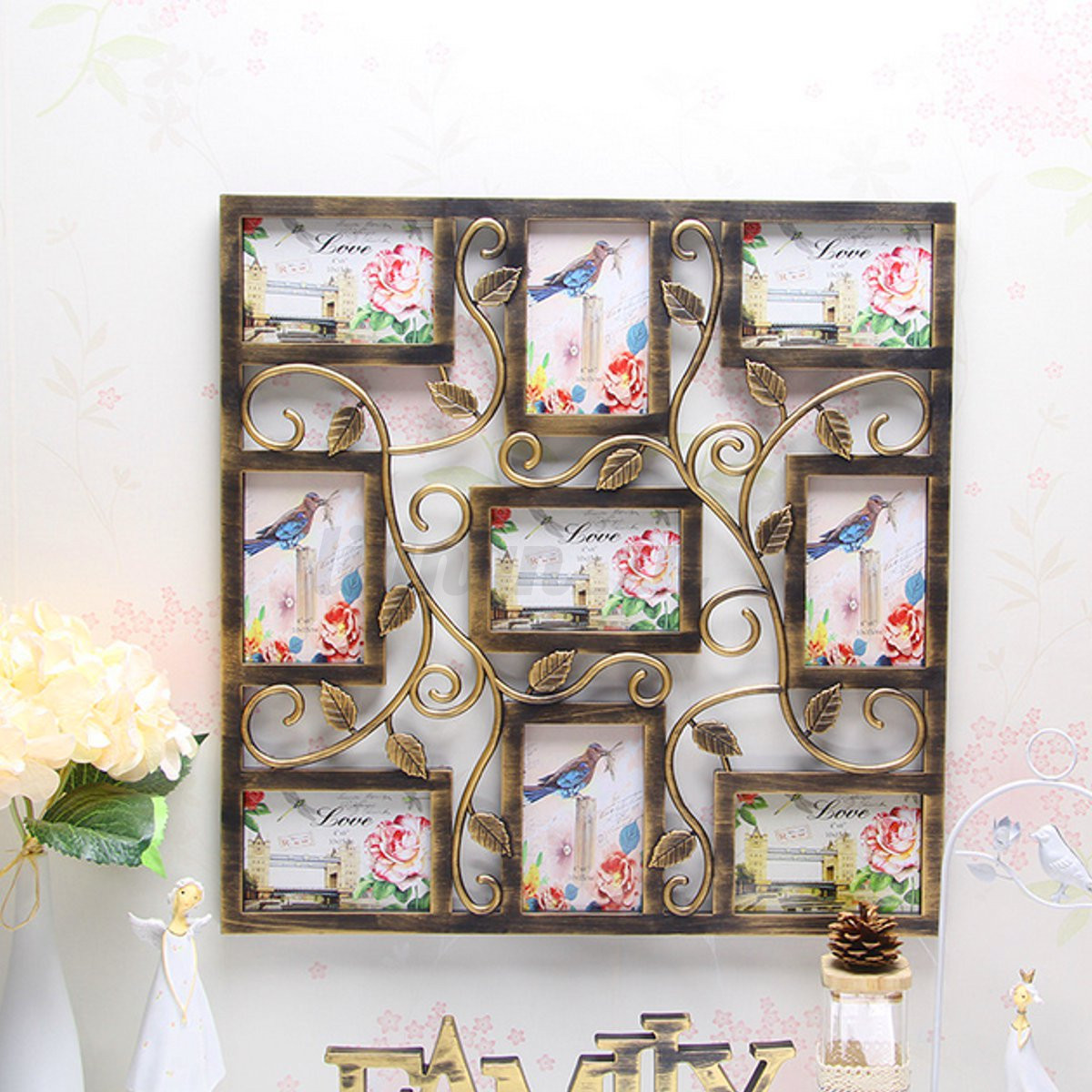 8 types 6 39 39 collage multi photo frames picture display for Wall hanging picture display