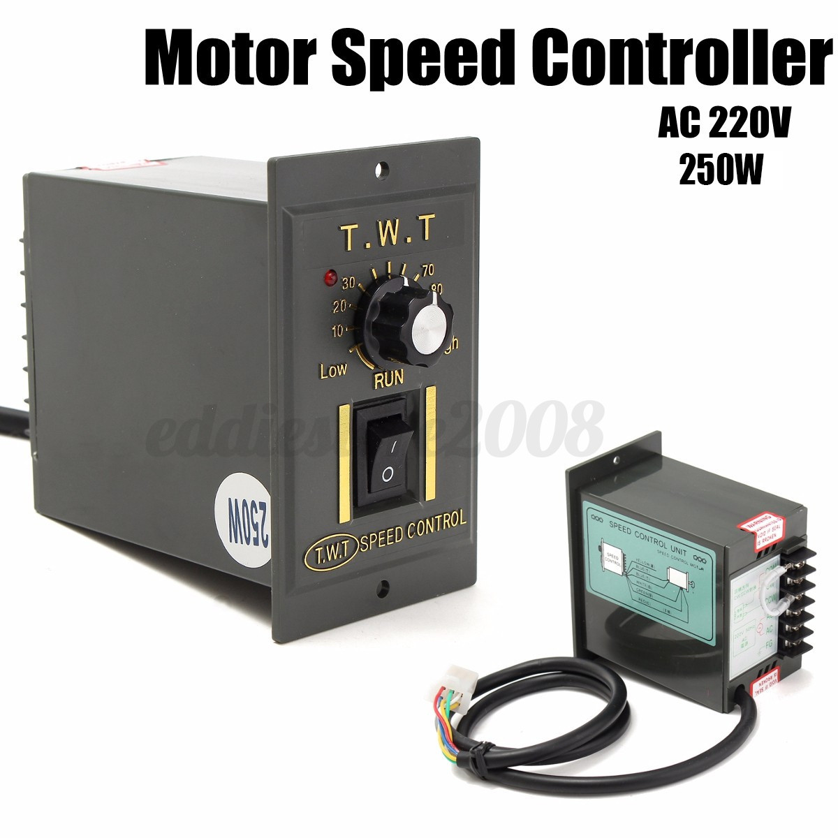 AC 220V 250W Motor Speed Controller Variable Frequency Converter ...