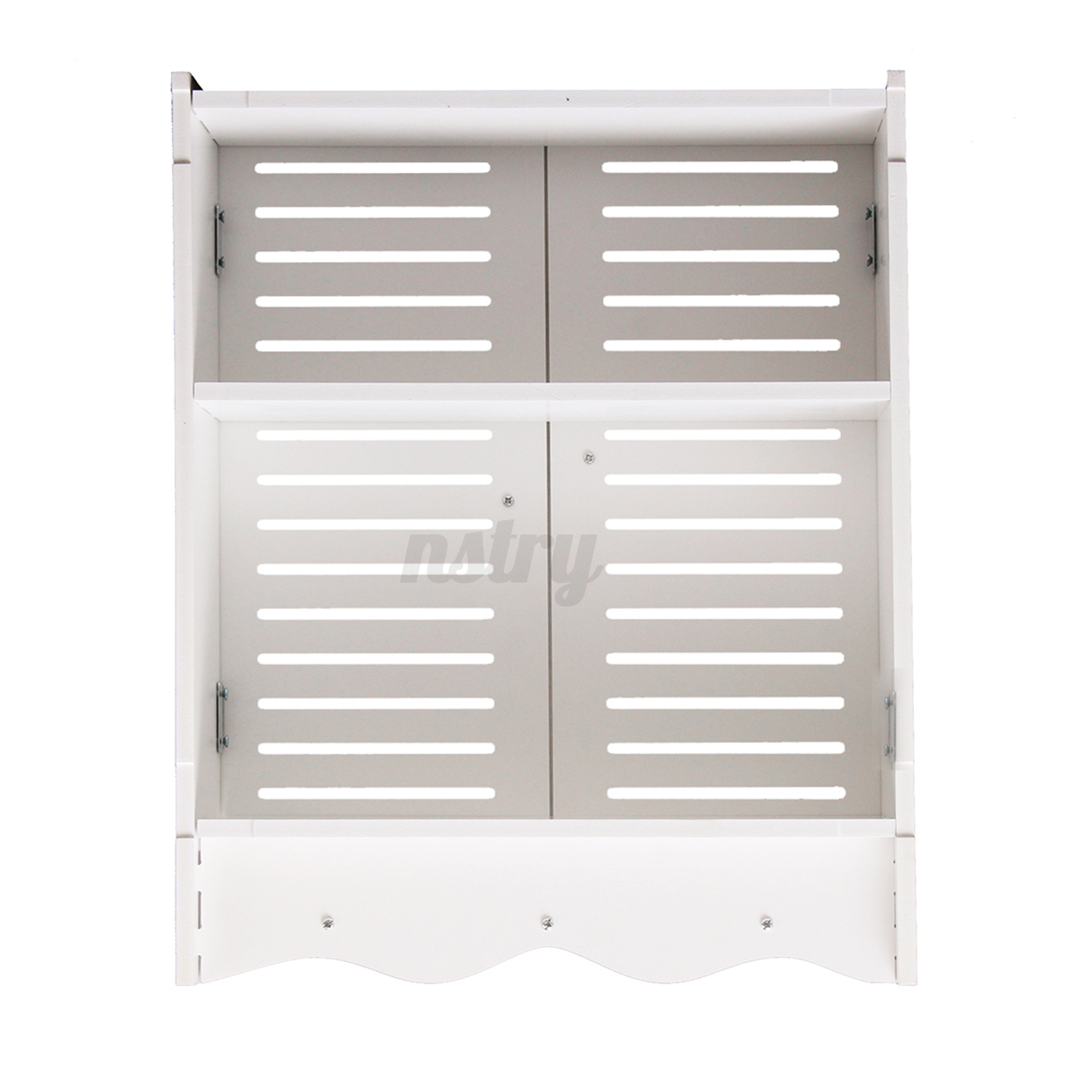 Bathroom cabinet wall mounted double shutter door storage for Bathroom cabinets ebay australia