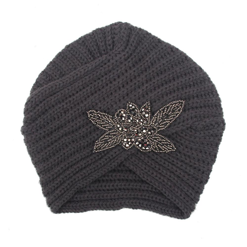 femme turban chapeau indien bonnet crochet laine serre t te souple hiver chaud ebay. Black Bedroom Furniture Sets. Home Design Ideas