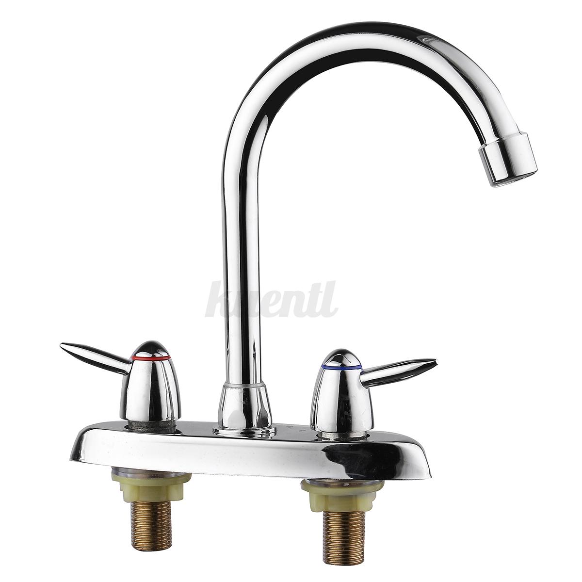 High Spout Bathroom Faucet: 360° 2 Handle High Spout Kitchen Bathroom Faucet Sink