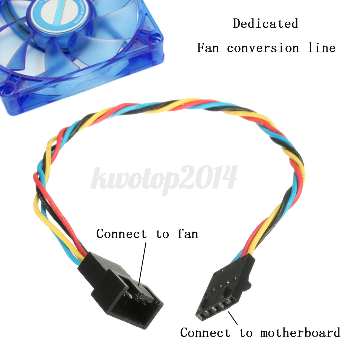 5 Pin Latch Dedicated Fan To 4 Pin Cable Adapter Interface