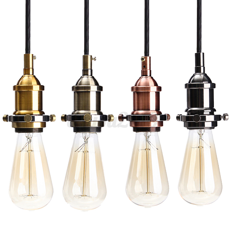 Hanging Light Fittings Wholesale: E27 Vintage Ceiling Rose Braided Fabric Flex Pendant Lamp
