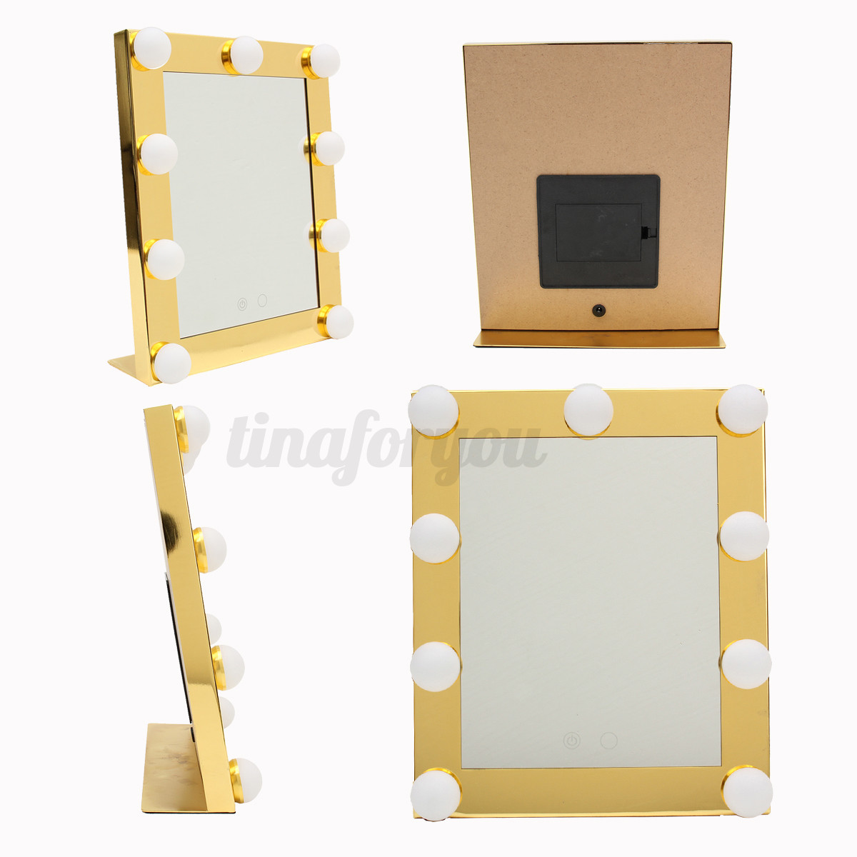 Vanity Lighted Hollywood Makeup Mirror with lights Dimmer Stage Beauty Touch eBay
