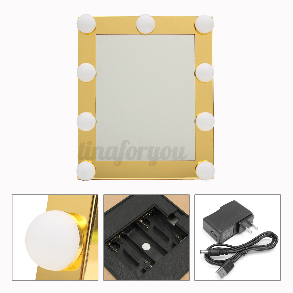 vanity lighted hollywood makeup mirror with lights dimmer stage beauty touch ebay. Black Bedroom Furniture Sets. Home Design Ideas