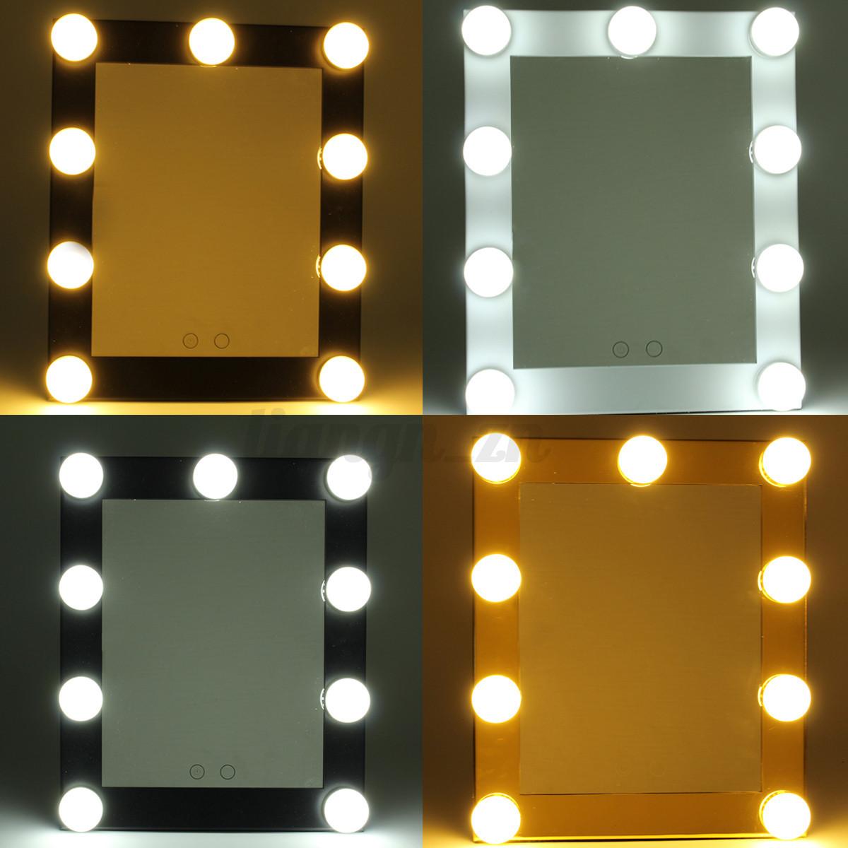 hollywood makeup mirror with led lights vanity make up lighted beauty mirror ebay. Black Bedroom Furniture Sets. Home Design Ideas