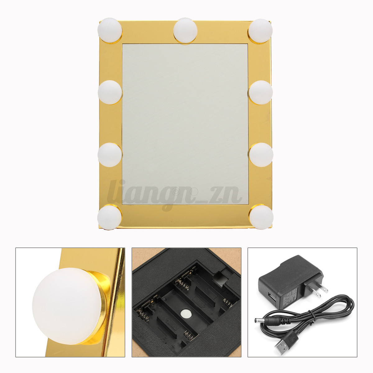 hollywood makeup mirror with led lights vanity make up lighted beauty mirror ebay. Black Bedroom Furniture Sets. Home Design Ideas