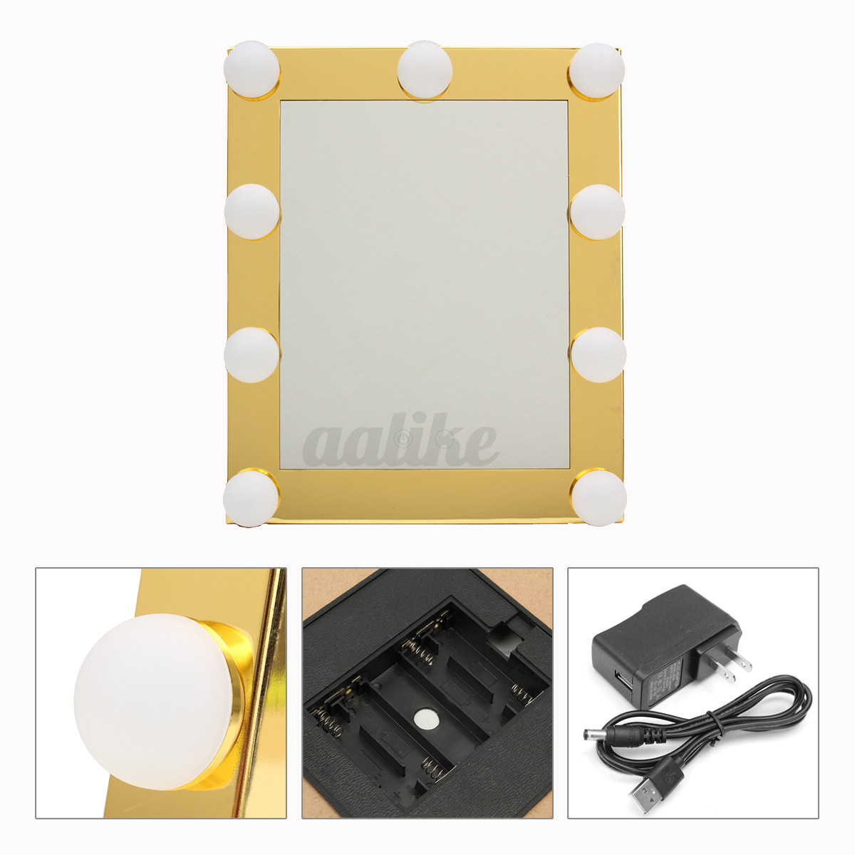 Vanity Lights With Dimmer : LED Vanity Lighted Hollywood Makeup Mirror with lights Dimmer Stage Beauty Touch eBay