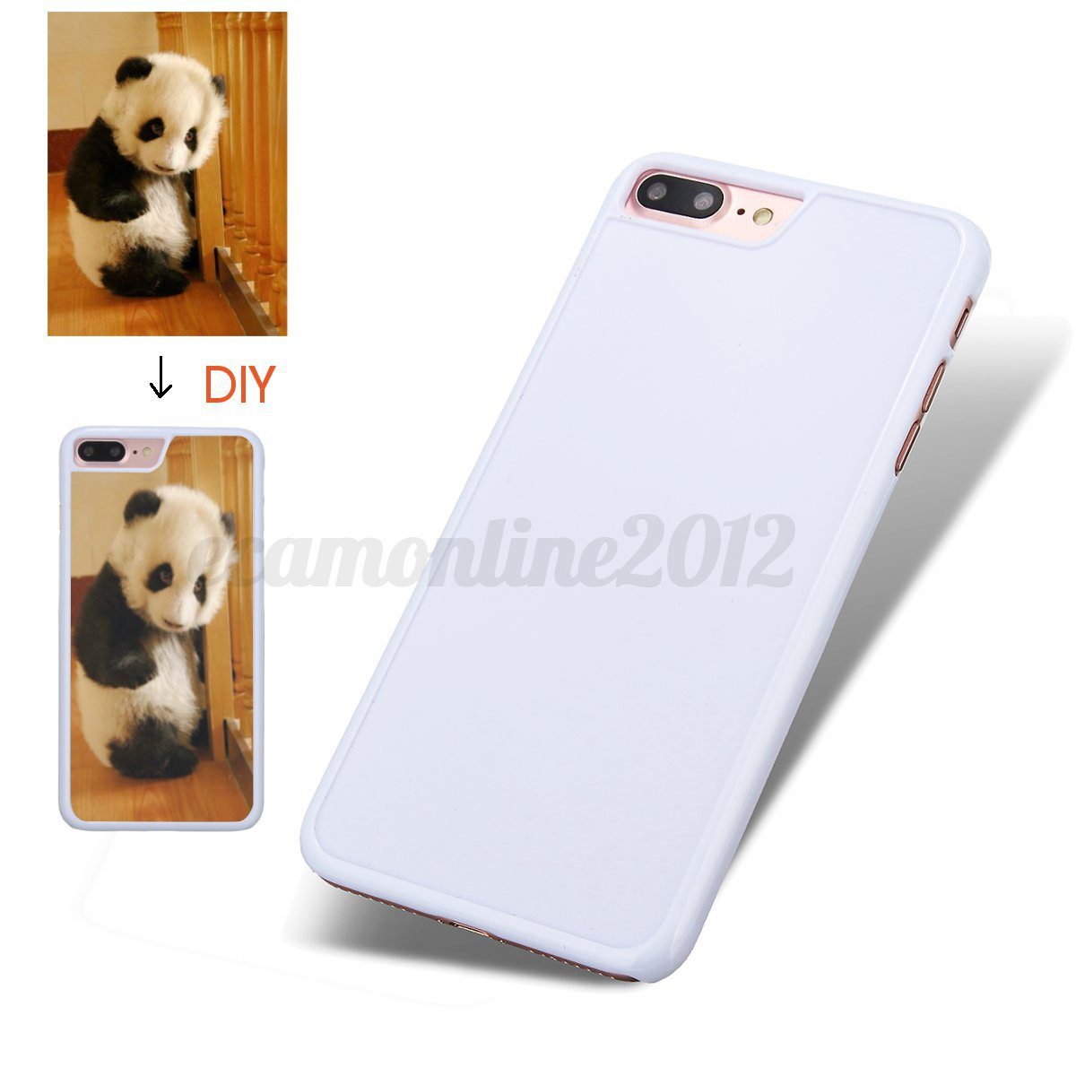 Jet white personalized design 3d custom picture diy cover for Diy custom phone case