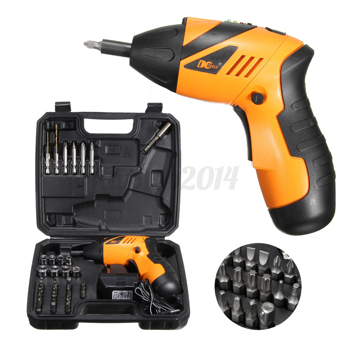 45 in 1 power tool set rechargeable cordless electric screwdriver drill kit ebay. Black Bedroom Furniture Sets. Home Design Ideas