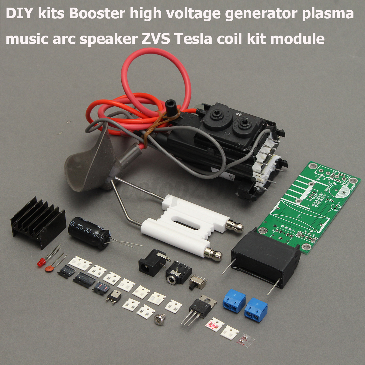 High Voltage Plasma : Kv tesla coil zvs booster high voltage generator plasma
