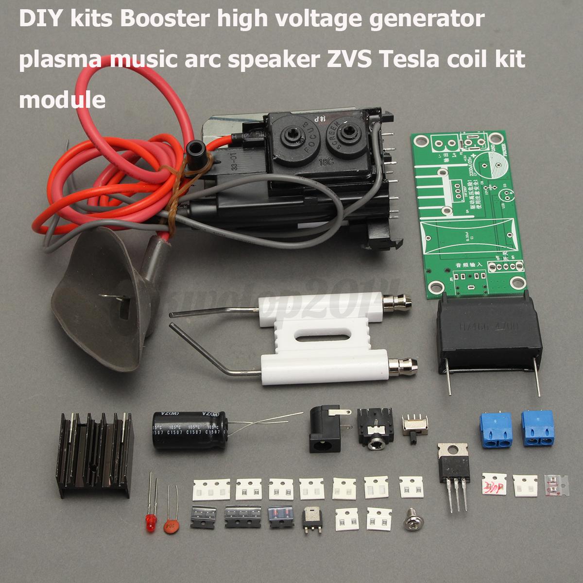 High Voltage Kit : Kv tesla coil zvs booster high voltage generator plasma