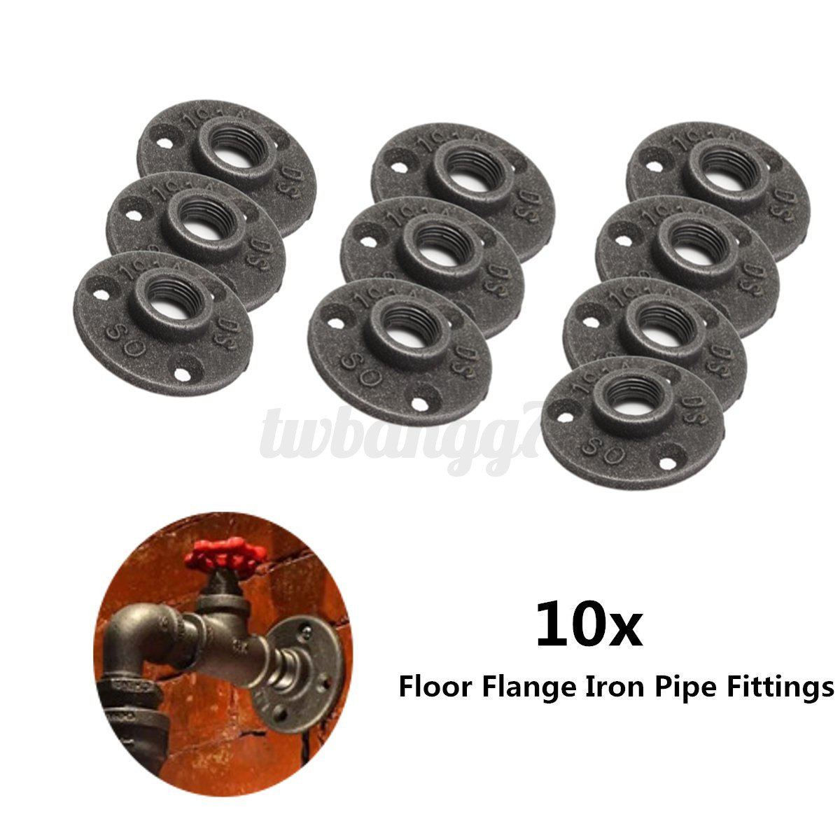 Black malleable cast iron pipe fittings floor