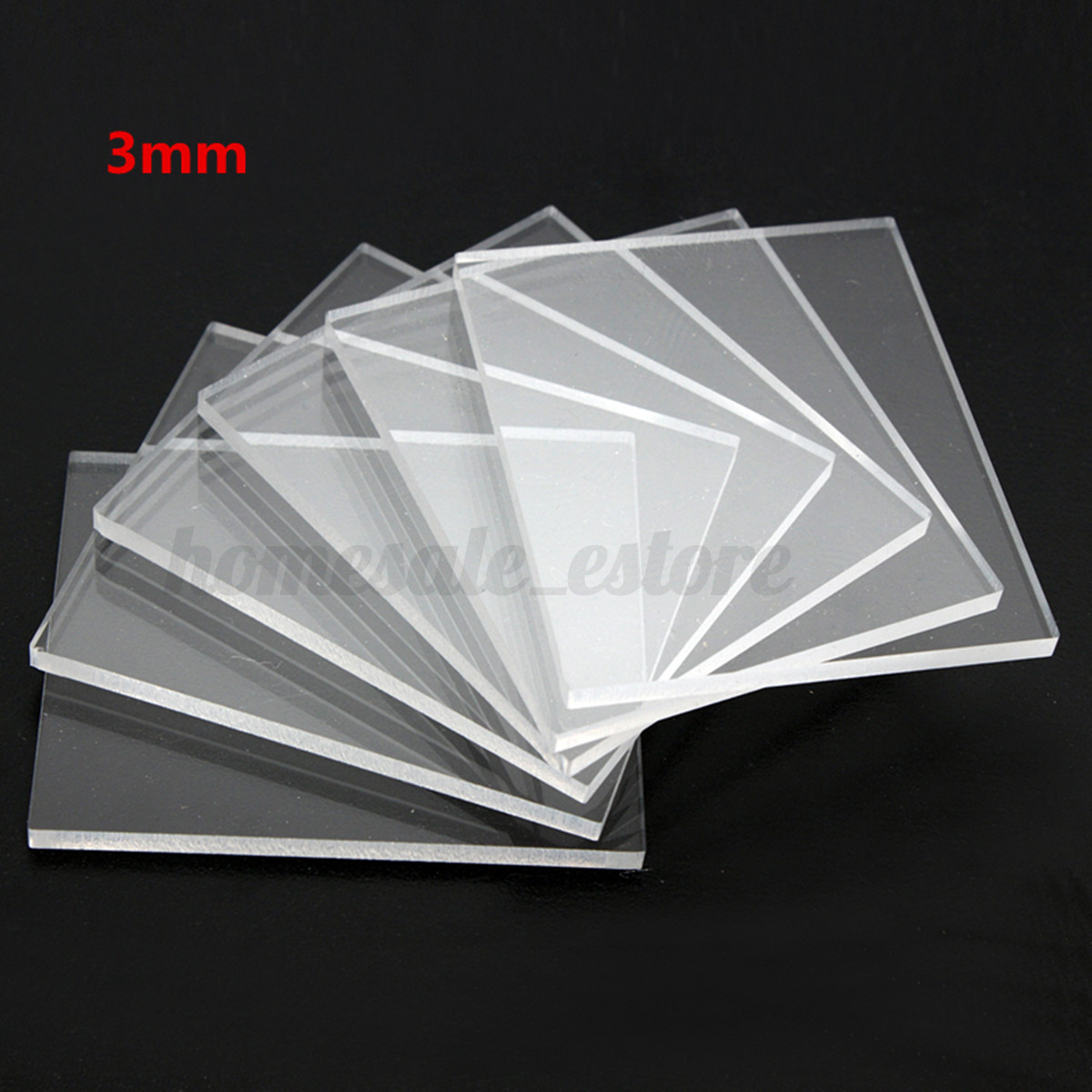 6 packs transparent acrylic stamping rubber thin blocks for Plastic blocks for crafts