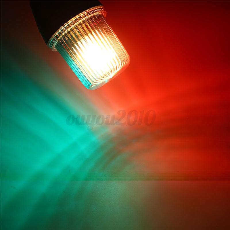 Shoreline Marine Fold Down Stern Anchor Lighting Pontoon Boat Lamp Red/&Green
