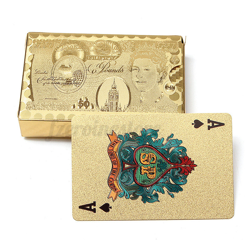 Playing Cards Deck Table Game Magic Card Gold Foil Plated