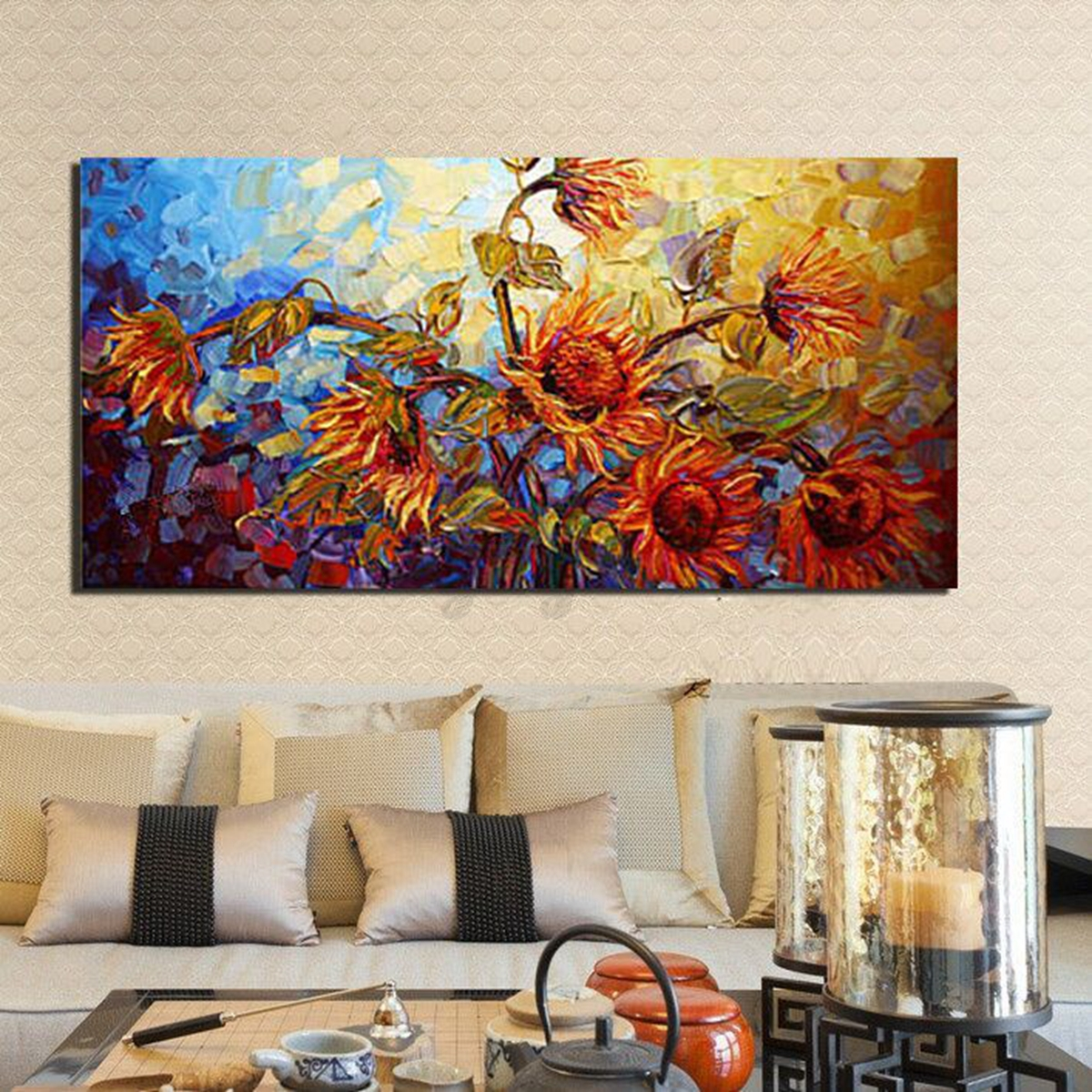 Modern Art For Home Decor: Multi Modern Abstract Canvas Print Painting Picture Wall