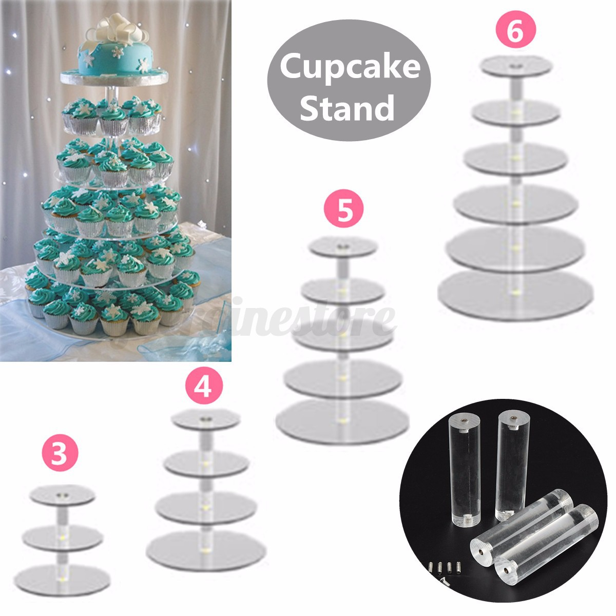 how to make a 5 tier cupcake stand