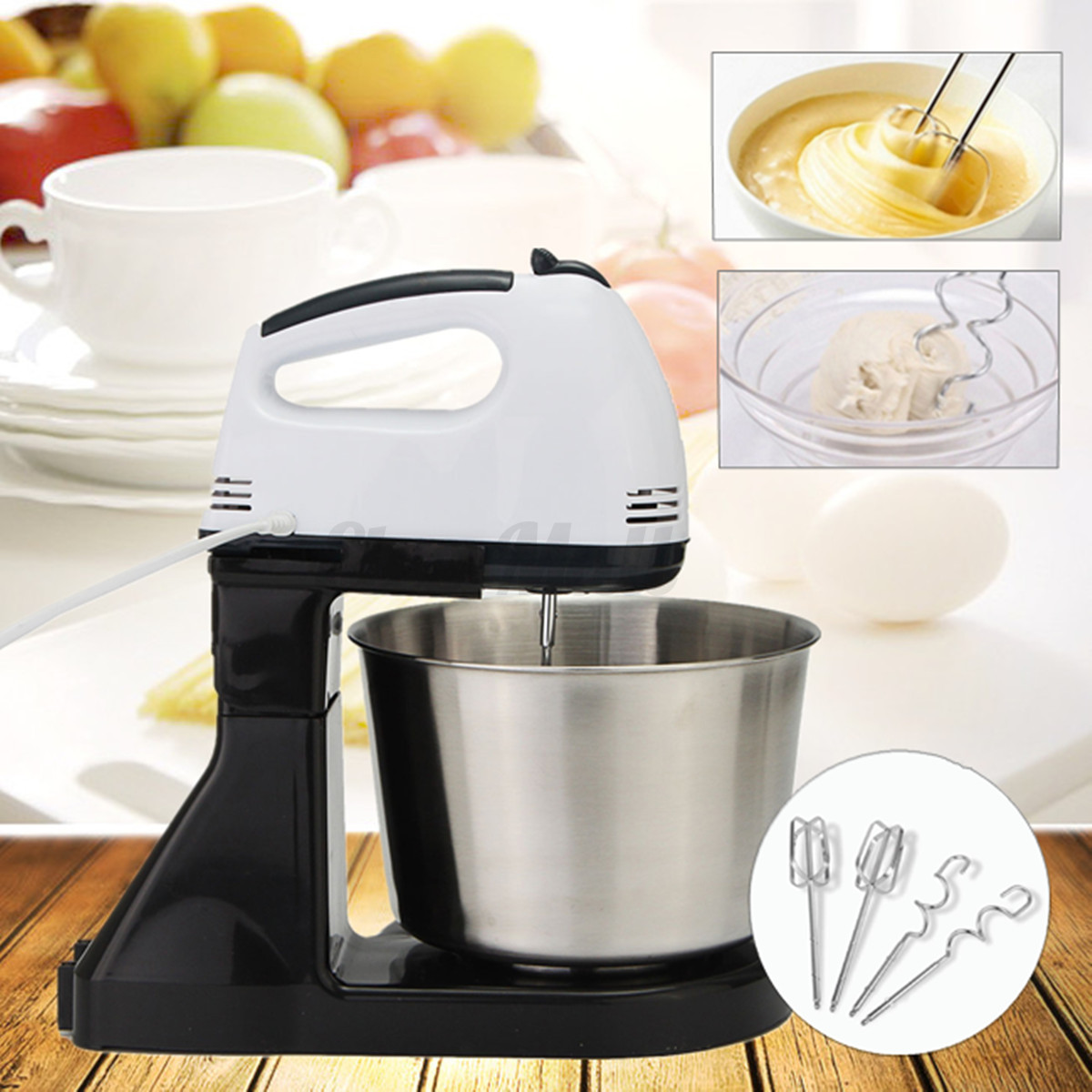 Electric Hand Mixers Kitchen ~ Electric speed cake dough egg countertop stand kitchen