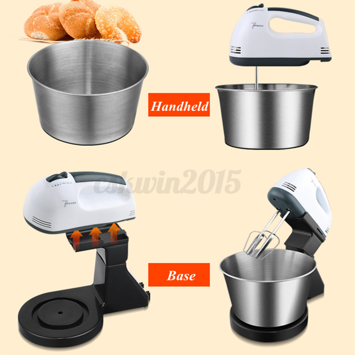 Electric Hand Held Blender ~ W l electric hand held mixer balloon whisk beater food