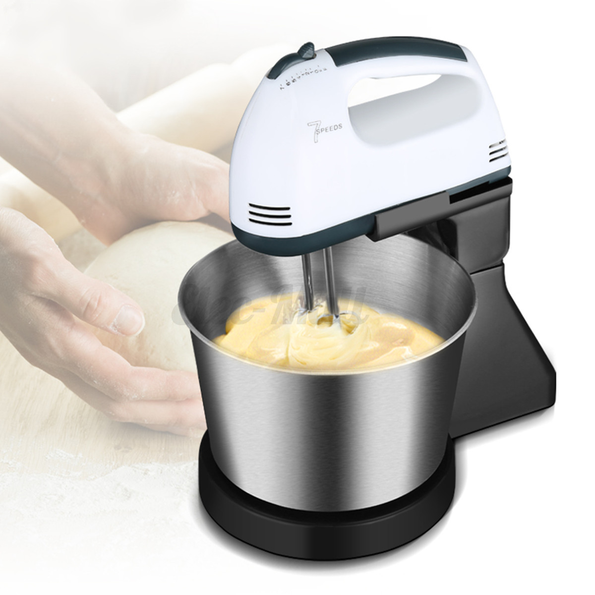 Electric 7 Speed Cake Dough Egg Countertop Stand Kitchen