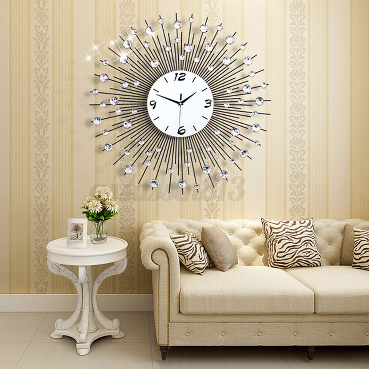 Luxury Scenic Iron Art Metal Living Room Round Diamond