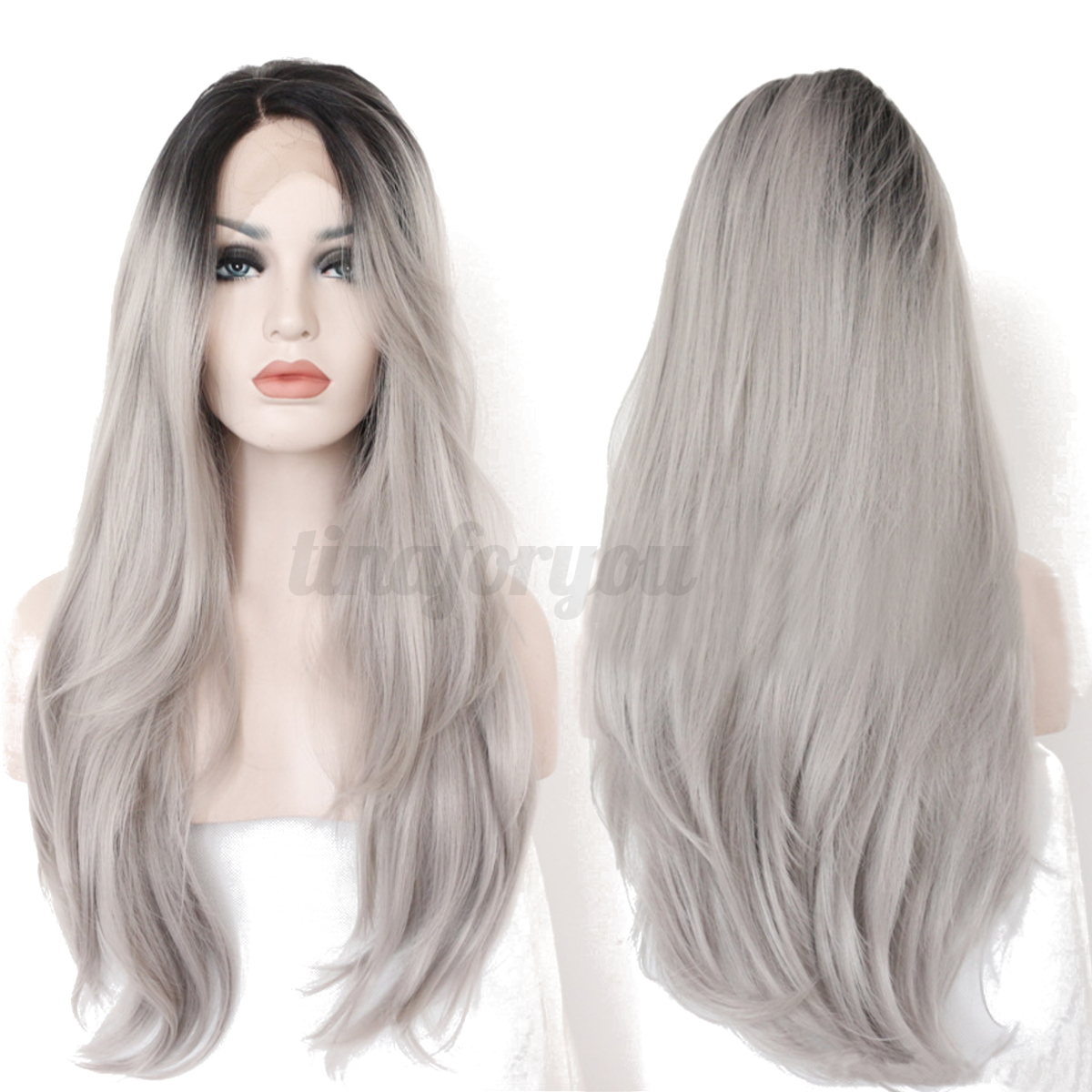 Womens Lady Long Hair Wig Curly Wavy Straight Cosplay ...