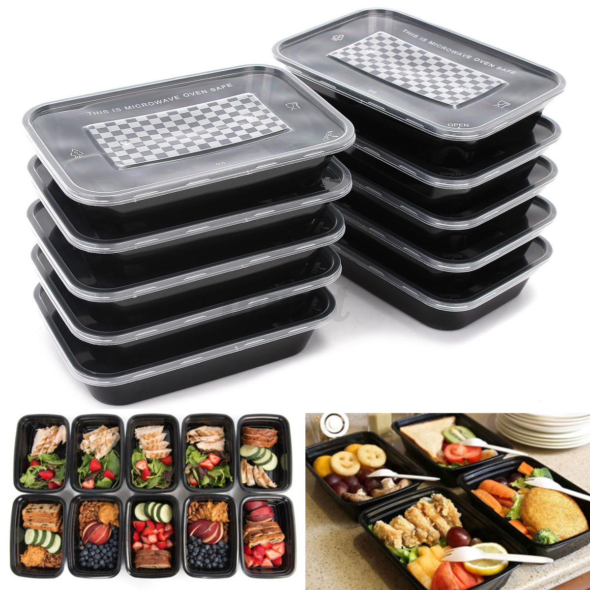 15type takeaway safe food container meal storage microwave. Black Bedroom Furniture Sets. Home Design Ideas