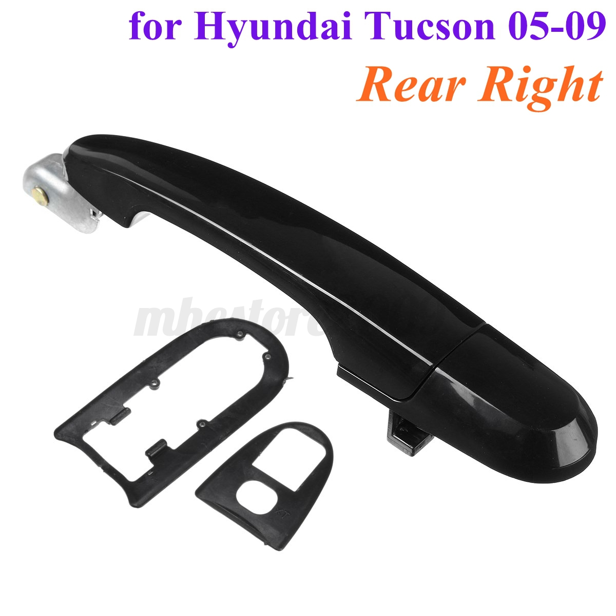 Image is loading Rear-Outer-Black-Door-Handle-For-Hyundai-Tucson-  sc 1 st  eBay & Rear Outer Black Door Handle For Hyundai Tucson 05-09 836602E020Ca ...