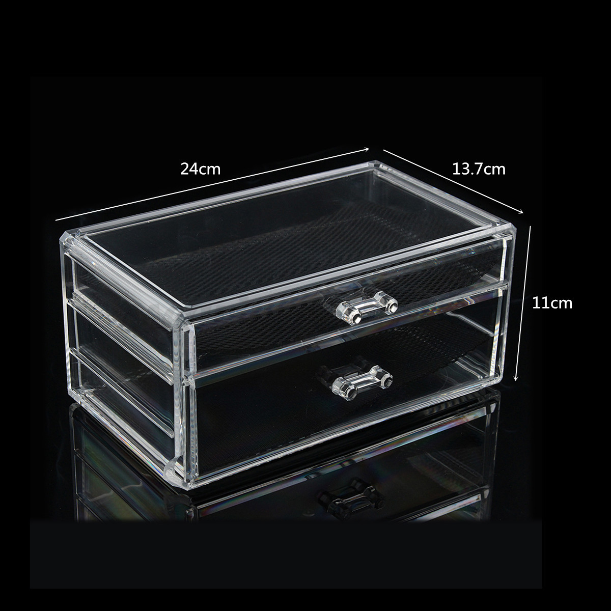 Acrylic Jewelry Boxes : Cosmetic case clear acrylic makeup organizer jewelry