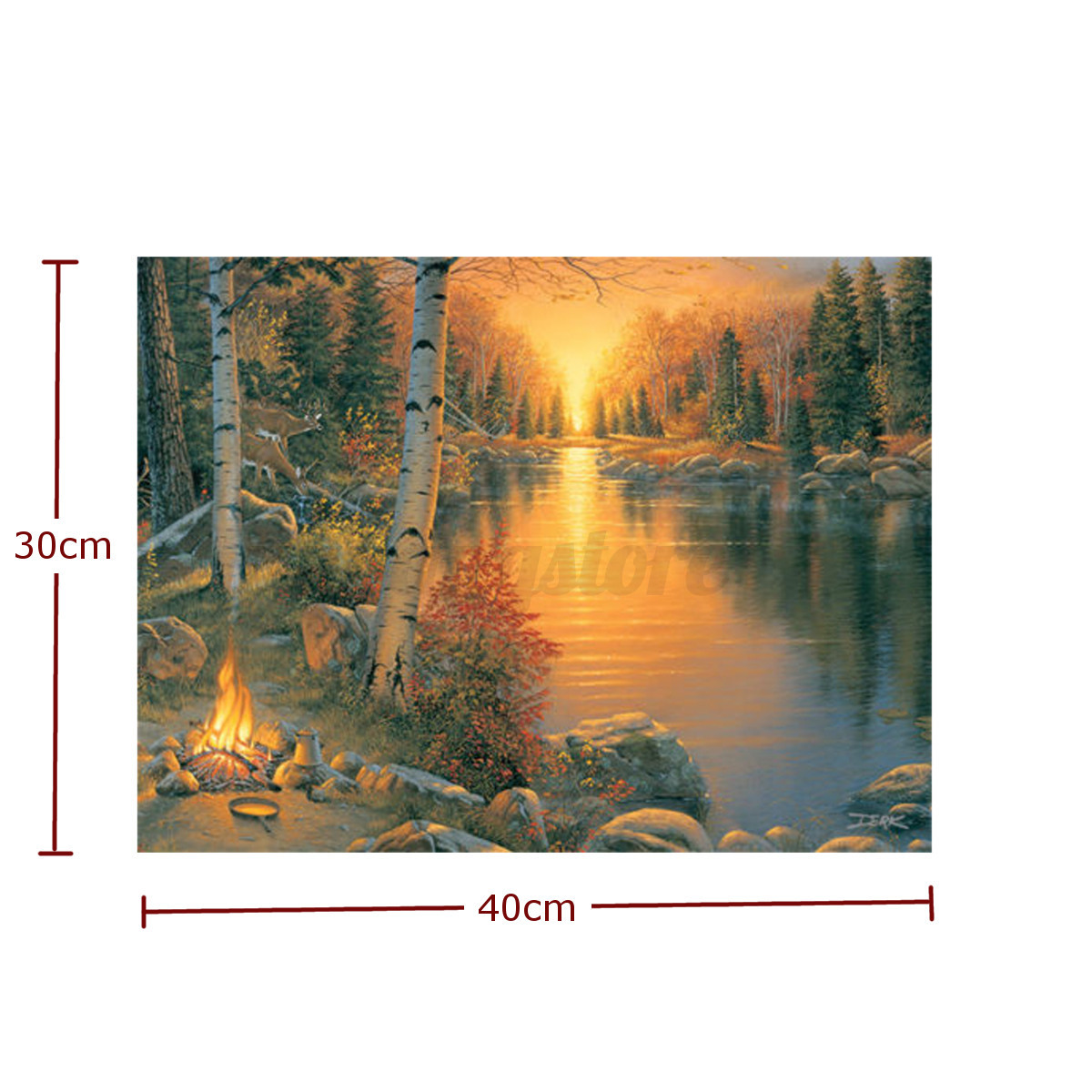 Light-up LED Lighted Christmas River Horses Wall Art Home Decor Canvas Picture eBay
