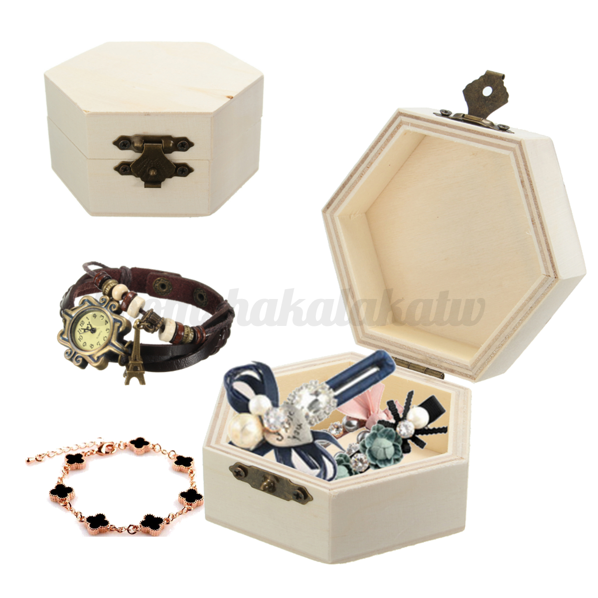 Diy unfinished unpainted plain wooden wood jewelry box for Ring case