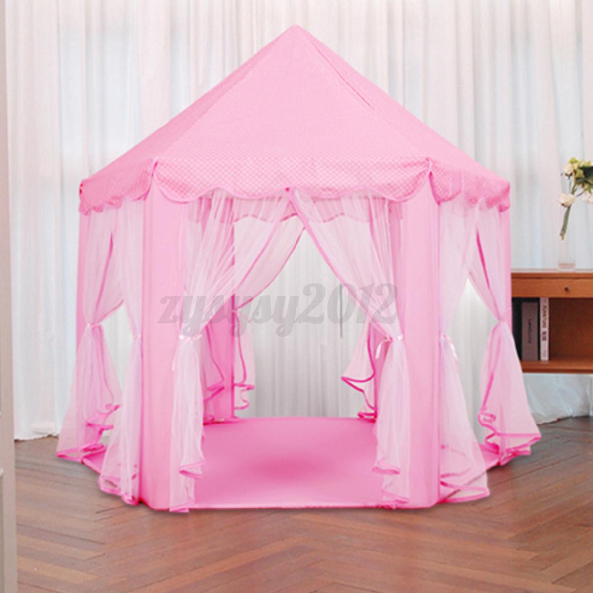 tente de jeu tipi pour enfants filles ch teau de princesse cabane maison jouet ebay. Black Bedroom Furniture Sets. Home Design Ideas