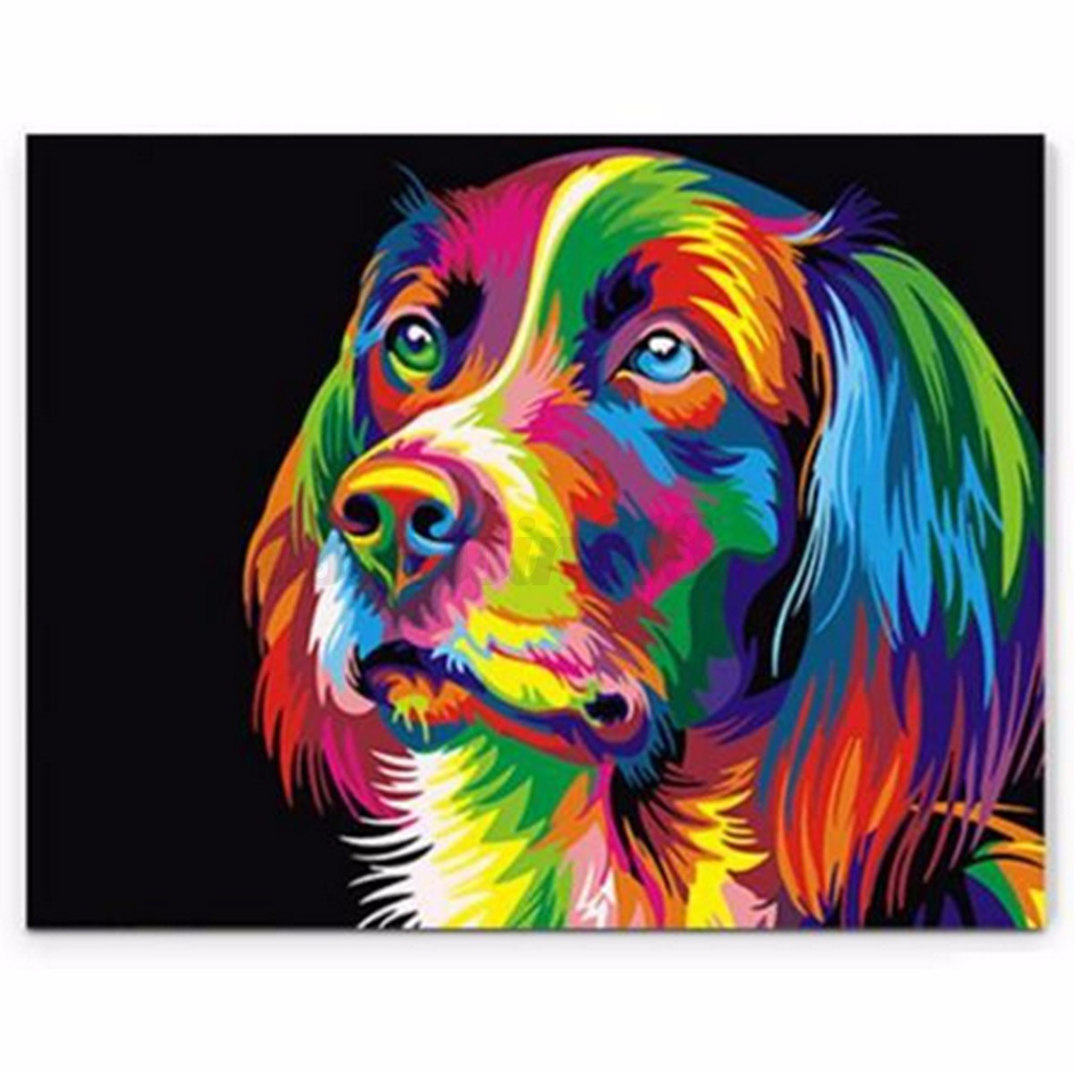 Painting By Number Kit Multi Colored Puppy Animal