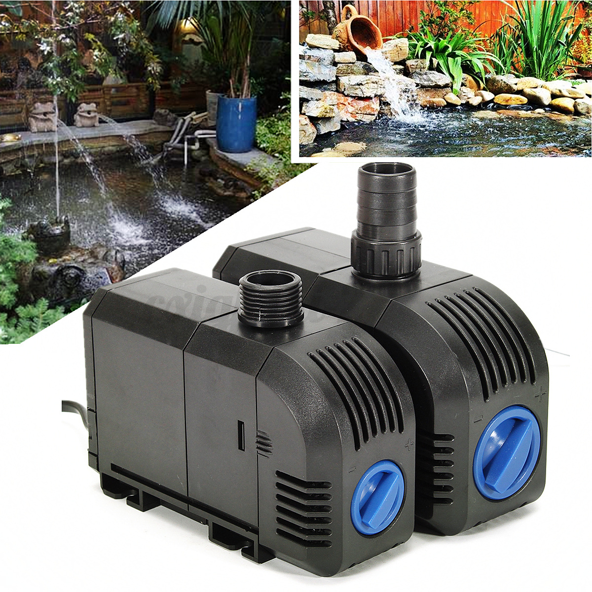 Aquarium fish tank pond water pump filter oxygen aerator for Fish pond aerator