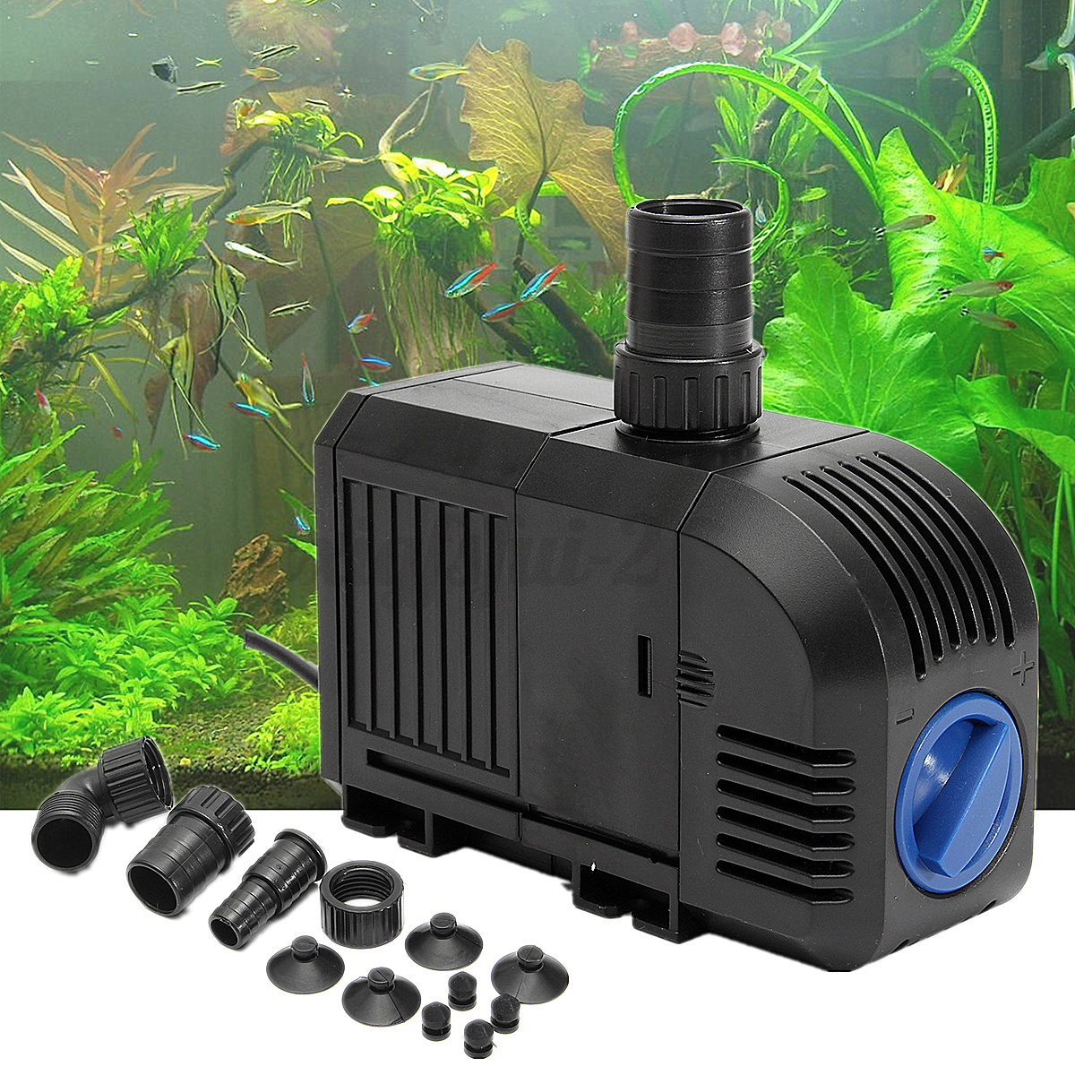 Aquarium fish tank pond water pump filter oxygen aerator for Fish tank aerator