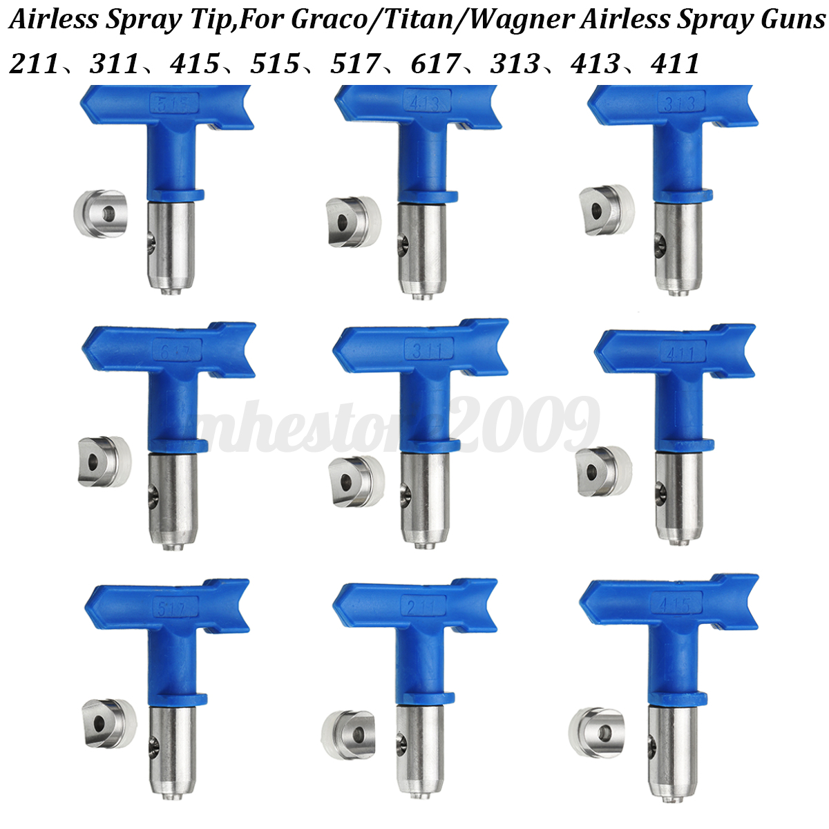 2 3 4 5 6 series airless spray gun tip for graco titan. Black Bedroom Furniture Sets. Home Design Ideas