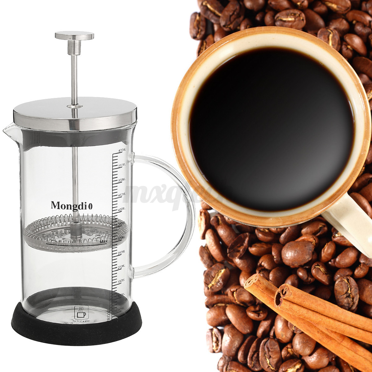 French Press Filters Coffee Maker Siphon Pot Stainless Steel Bean Grinder Manual eBay