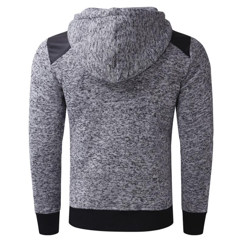 INCERUN-Men-039-s-Zip-Up-Hoodie-Patchwork-Jacket-Sweatshirt-Hooded-Sport-Pullover thumbnail 4