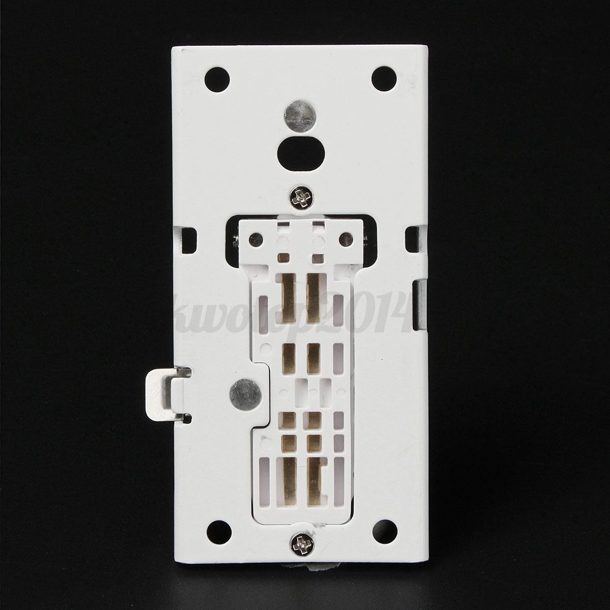 white slide connect flush mount wall bracket stand for