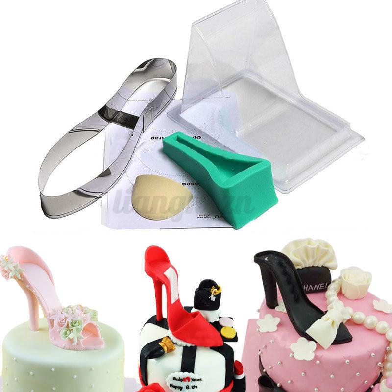 3d high heel shoe kit silicone fondant mould cake
