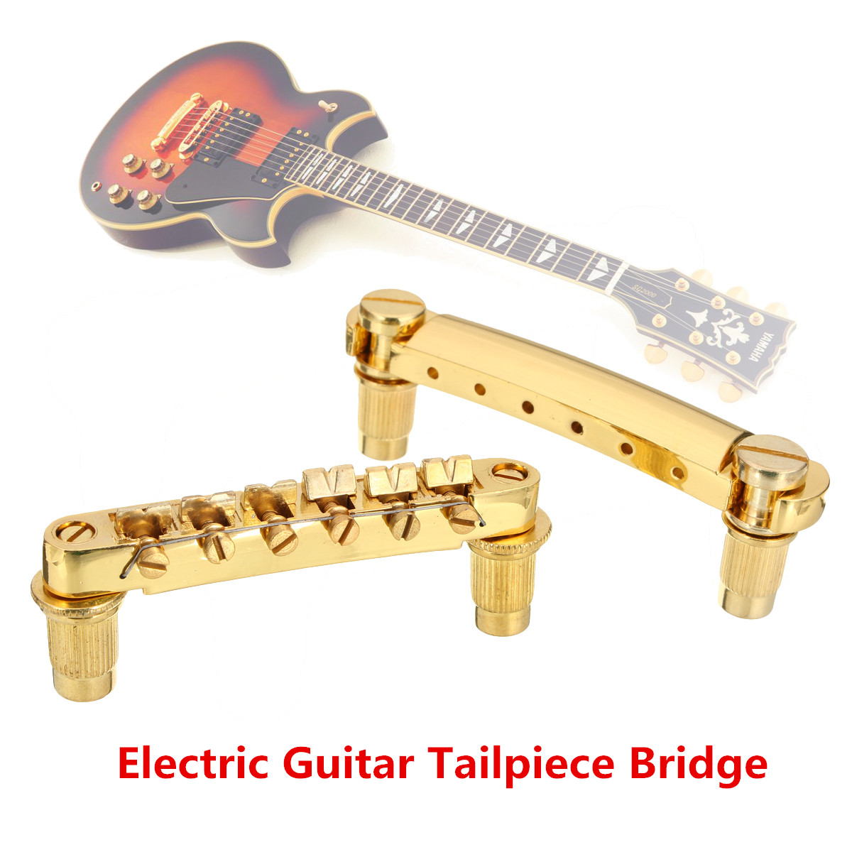 new gold tune o matic bridge tailpiece for gibson les paul guitar replacement ebay. Black Bedroom Furniture Sets. Home Design Ideas