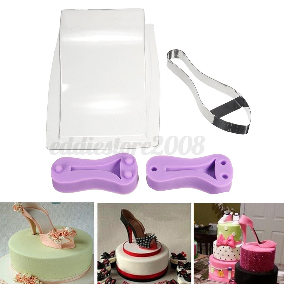 high heel shoe kit silicone fondant cake mould template