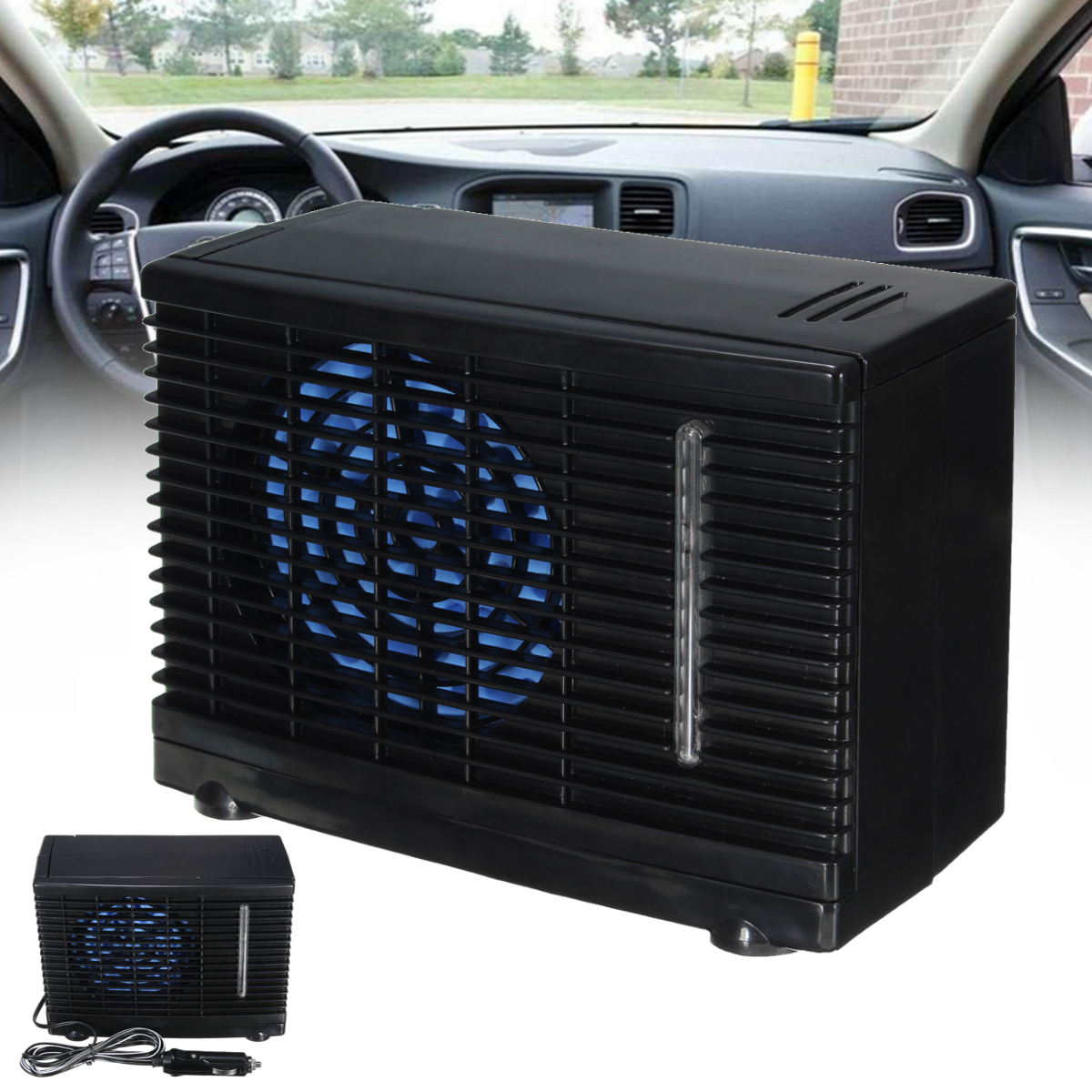 12v portable home car cooler cooling fan water ice evaporative air conditioner ebay. Black Bedroom Furniture Sets. Home Design Ideas