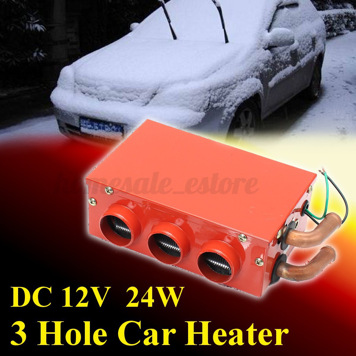 3-Hole-12V-24W-Portable-Car-Vehicle-Heating-Cooling-Heater-Demister-Defroster-1 thumbnail 2